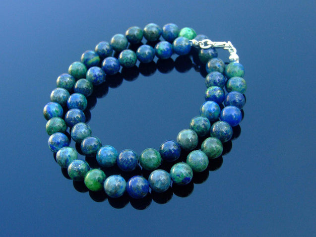 Chrysocolla Natural Gemstone Necklace 8mm Beaded 16-30inch-Michael's UK Jewellery