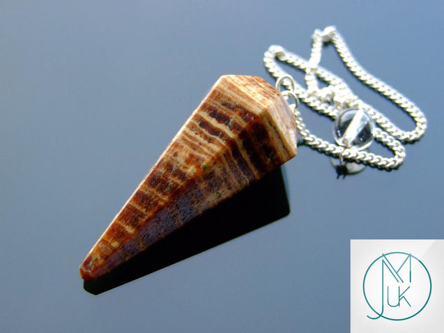 Aragonite Natural Gemstone Point Pendulum-Pendulum-Michael's UK Jewellery