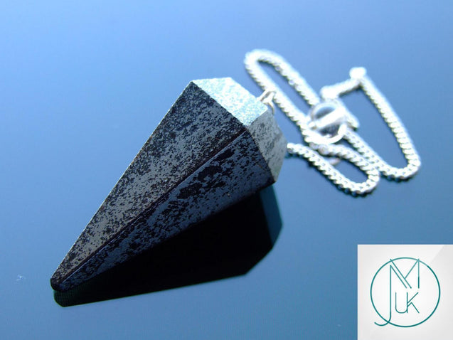 Hematite Natural Gemstone Point Pendulum-Pendulum-Michael's UK Jewellery