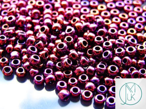 10g 503 Higher Metallic Dark Amethyst Toho Seed Beads 6/0 4mm-TOHO Glass Beads-Michael's UK Jewellery