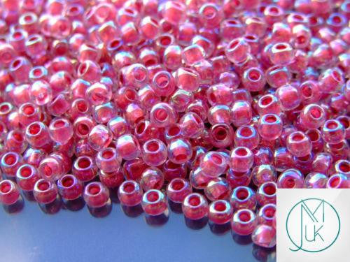 10g 771 Inside Coloror Crystal/Straw Lined Rainbow Toho Seed Beads 6/0 4mm-TOHO Glass Beads-Michael's UK Jewellery