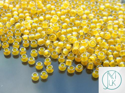 10g 801 Luminous Neon Tangerine Toho Seed Beads 6/0 4mm-TOHO Glass Beads-Michael's UK Jewellery