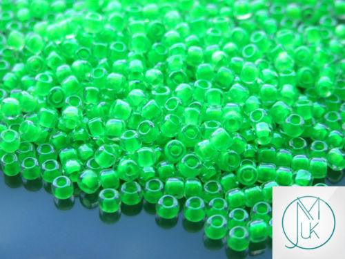 10g 805 Luminous Neon Green Toho Seed Beads 6/0 4mm-TOHO Glass Beads-Michael's UK Jewellery