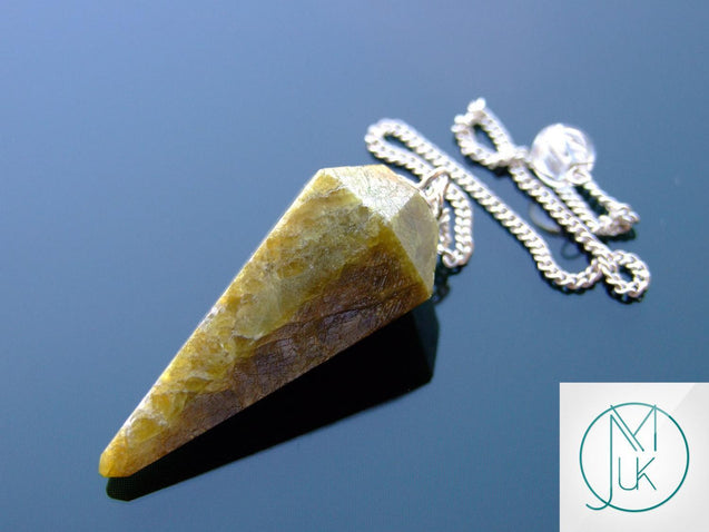 Vesuvianite Natural Gemstone Point Pendulum-Pendulum-Michael's UK Jewellery