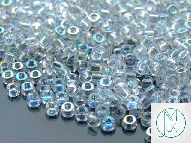 10g Crystal AB Matubo Seed Beads 6/0 4mm-Matubo Glass Beads-Michael's UK Jewellery