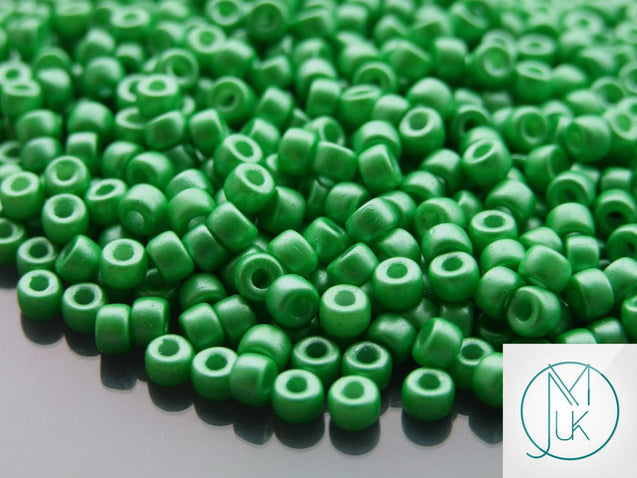 10g Alabaster Pearl Shine Light Green Matubo Seed Beads 6/0 4mm-Matubo Glass Beads-Michael's UK Jewellery