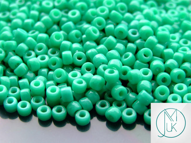 10g Green Turquoise Matubo Seed Beads 6/0 4mm-Matubo Glass Beads-Michael's UK Jewellery