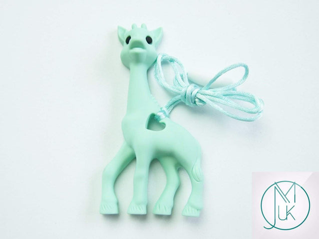 Mint Giraffe Pendant Teething Necklace-Teething Jewellery-Michael's UK Jewellery