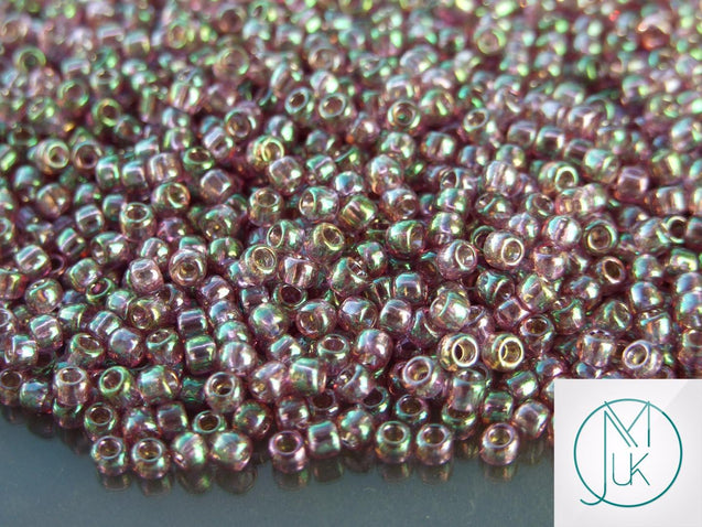 10g 206 Gold Lusted Hydrangea Toho Seed Beads 8/0 3mm-TOHO Glass Beads-Michael's UK Jewellery