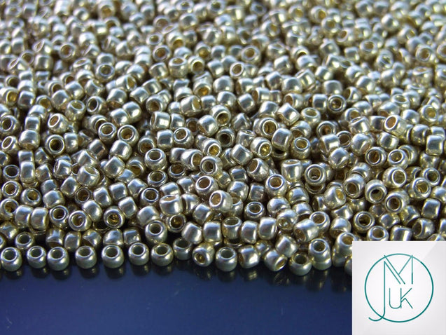 10g 558 Galvanized Aluminium Toho Seed Beads 8/0 3mm-TOHO Glass Beads-Michael's UK Jewellery