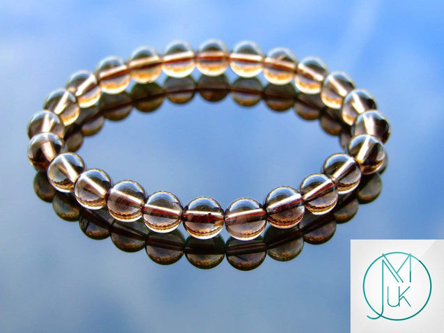 Smoky Quartz Natural Gemstone Bracelet 6-9'' Elasticated-Gemstone Bracelets-Michael's UK Jewellery