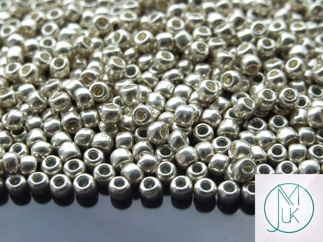 10g 558 Galvanized Aluminium Toho Seed Beads 6/0 4mm-TOHO Glass Beads-Michael's UK Jewellery
