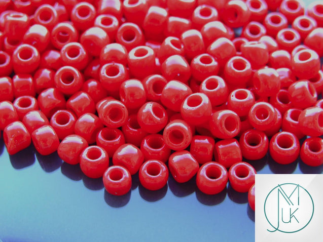 10g 45 Opaque Pepper Red Toho Seed Beads Size 3/0 5.5mm-TOHO Glass Beads-Michael's UK Jewellery