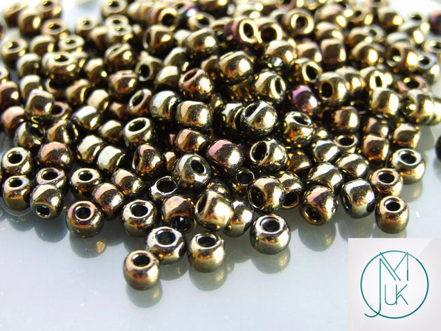10g 83 Metallic Iris Brown Toho Seed Beads Size 3/0 5.5mm-TOHO Glass Beads-Michael's UK Jewellery