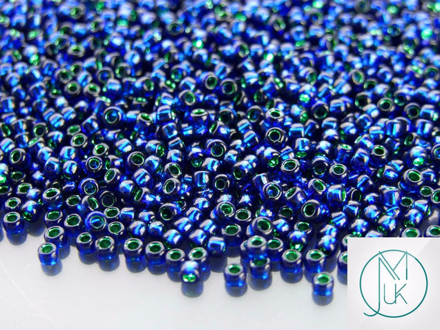 10g 2203 Silver Lined Navy Toho Seed Beads 8/0 3mm-TOHO Glass Beads-Michael's UK Jewellery