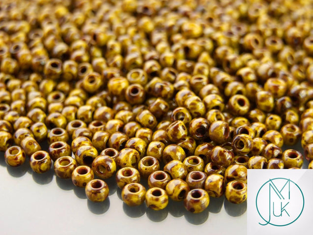10g Y319 HYBRID Picasso Opaque Dandelion Toho Seed Beads 6/0 4mm-TOHO Glass Beads-Michael's UK Jewellery