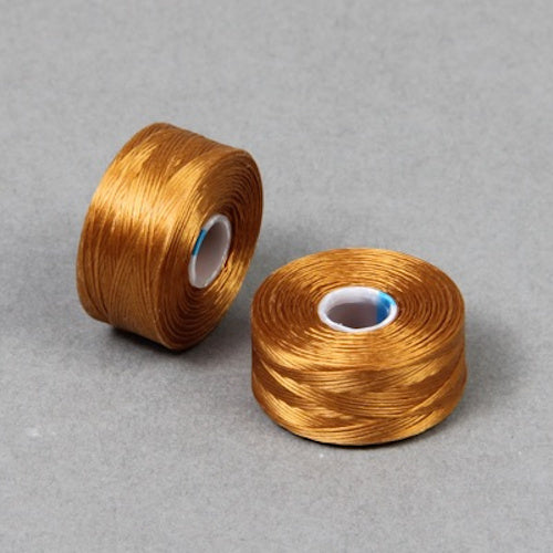 S Lon Beading Thread Size AA Gold-Beading Thread-Michael's UK Jewellery