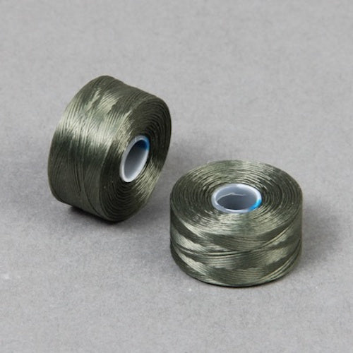 S Lon Beading Thread Size AA Olive-Beading Thread-Michael's UK Jewellery