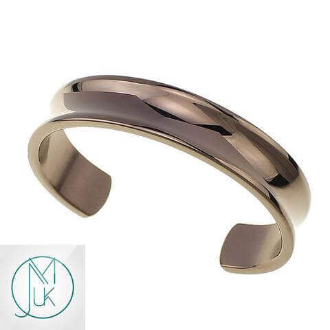 Stainless Steel Open End Cuff Rose Gold-Stainless Steel Jewellery-Michael's UK Jewellery
