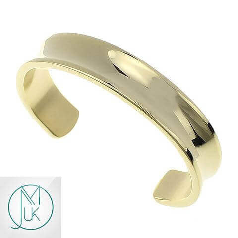 Stainless Steel Open End Cuff Gold-Stainless Steel Jewellery-Michael's UK Jewellery