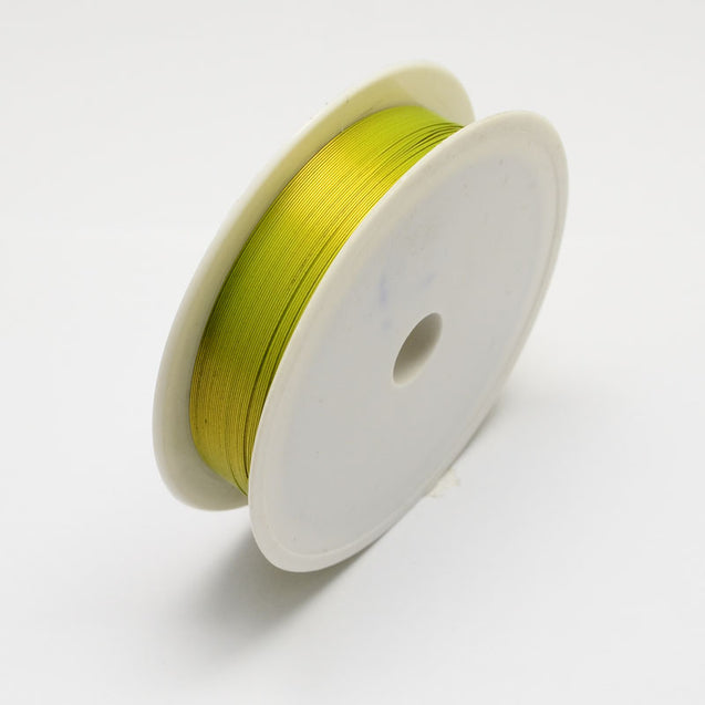 Iron Wire Green Yellow 0.5mm approx. 7m/roll-Beading Wire-Michael's UK Jewellery
