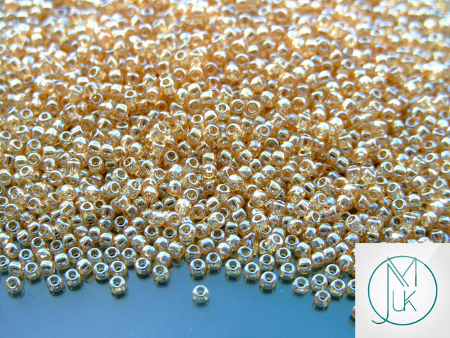10g 103 Transparent Light Topaz Luster Toho Seed Beads Size 11/0 2.2mm-TOHO Glass Beads-Michael's UK Jewellery