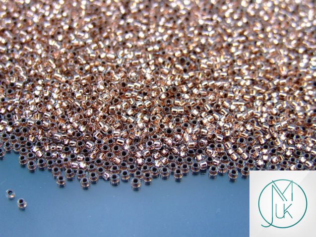 10g 740 Copper Lined Crystal Toho Seed Beads 15/0 1.5mm-TOHO Glass Beads-Michael's UK Jewellery