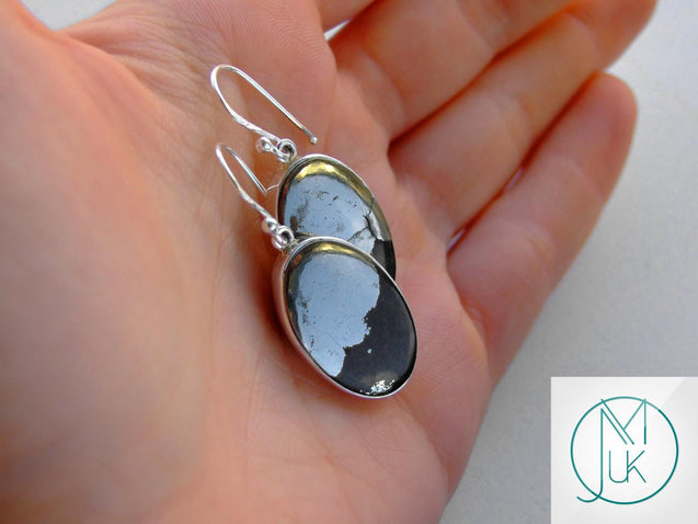 Healers Gold Natural Gemstone 925 Sterling Silver Earrings-Sterling Silver Gemstone Earrings-Michael's UK Jewellery
