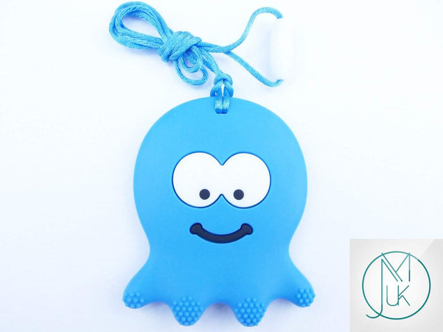 Blue Octopus Pendant Teething Necklace-Teething Jewellery-Michael's UK Jewellery