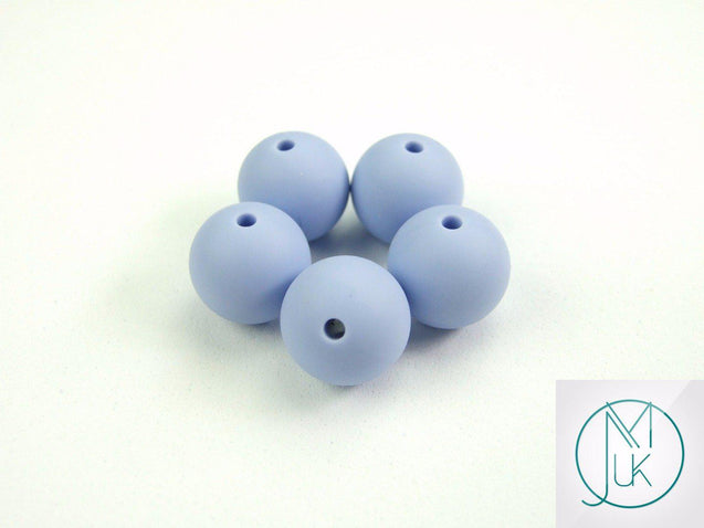 4x 22mm Round Silicone Beads Blue/Serenity-Teething Jewellery-Michael's UK Jewellery