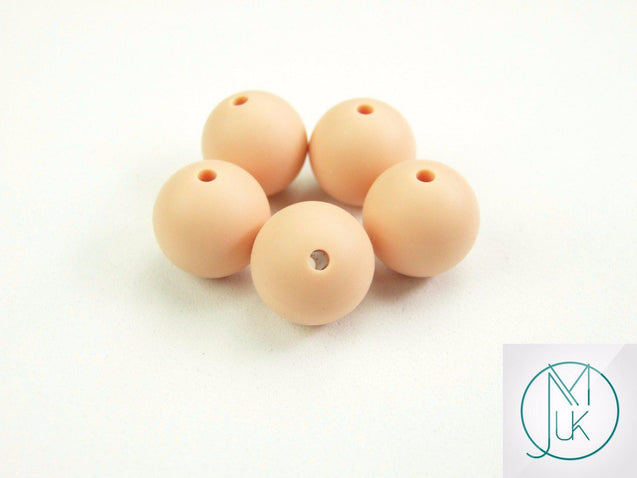 4x 22mm Round Silicone Beads Peachy-Teething Jewellery-Michael's UK Jewellery
