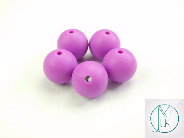 4x 22mm Round Silicone Beads Purple-Teething Jewellery-Michael's UK Jewellery