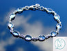 Solid 925 Sterling Silver Blue Topaz Natural Gemstone Bracelet-Sterling Silver Gemstone Bracelet-Michael's UK Jewellery
