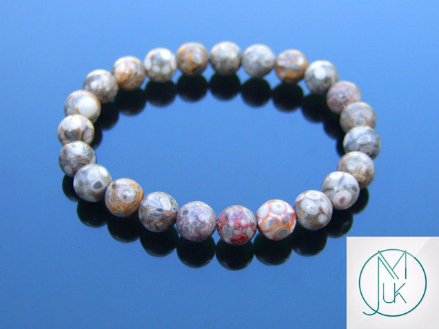Maifan Stone Natural Gemstone Bracelet 6-9'' Elasticated-Gemstone Bracelets-Michael's UK Jewellery