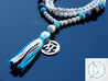 Howlite/Lapis Natural Gemstone Mala Prayer Necklace-Gemstone Necklace-Michael's UK Jewellery