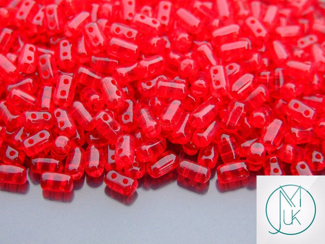10g Rulla Beads Transparent Siam Ruby-Matubo Glass Beads-Michael's UK Jewellery