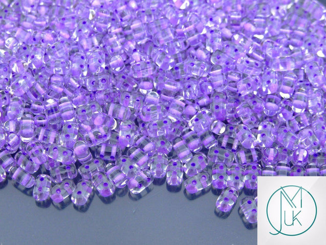 10g Rulla Beads Purple Lined-Matubo Glass Beads-Michael's UK Jewellery