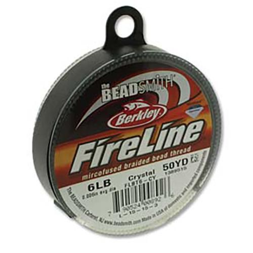 FireLine Braided Cord .006in/.15mm 50yards/45.72m Crystal Clear-Beading Thread-Michael's UK Jewellery