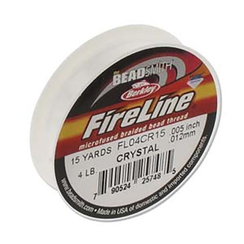 FireLine Braided Cord .005in/.12mm 15yards/13.72m Crystal Clear-Beading Thread-Michael's UK Jewellery