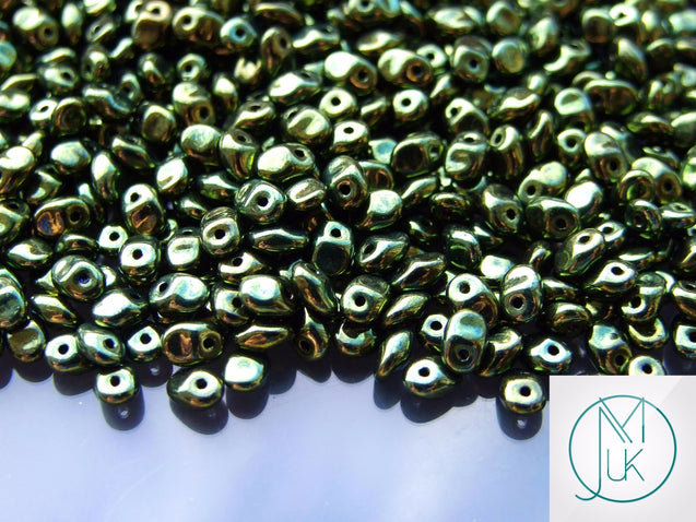 10g SuperUno Beads Jet Green Luster-Matubo Glass Beads-Michael's UK Jewellery