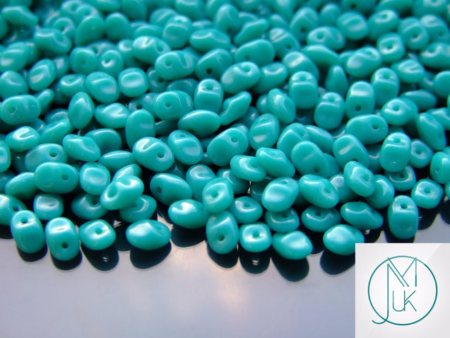 10g SuperUno Beads Turquoise Green-Matubo Glass Beads-Michael's UK Jewellery