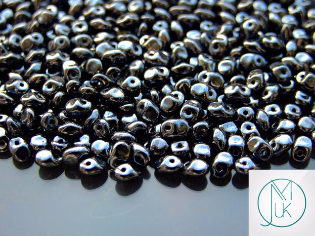 10g SuperUno Beads Jet Luster-Matubo Glass Beads-Michael's UK Jewellery