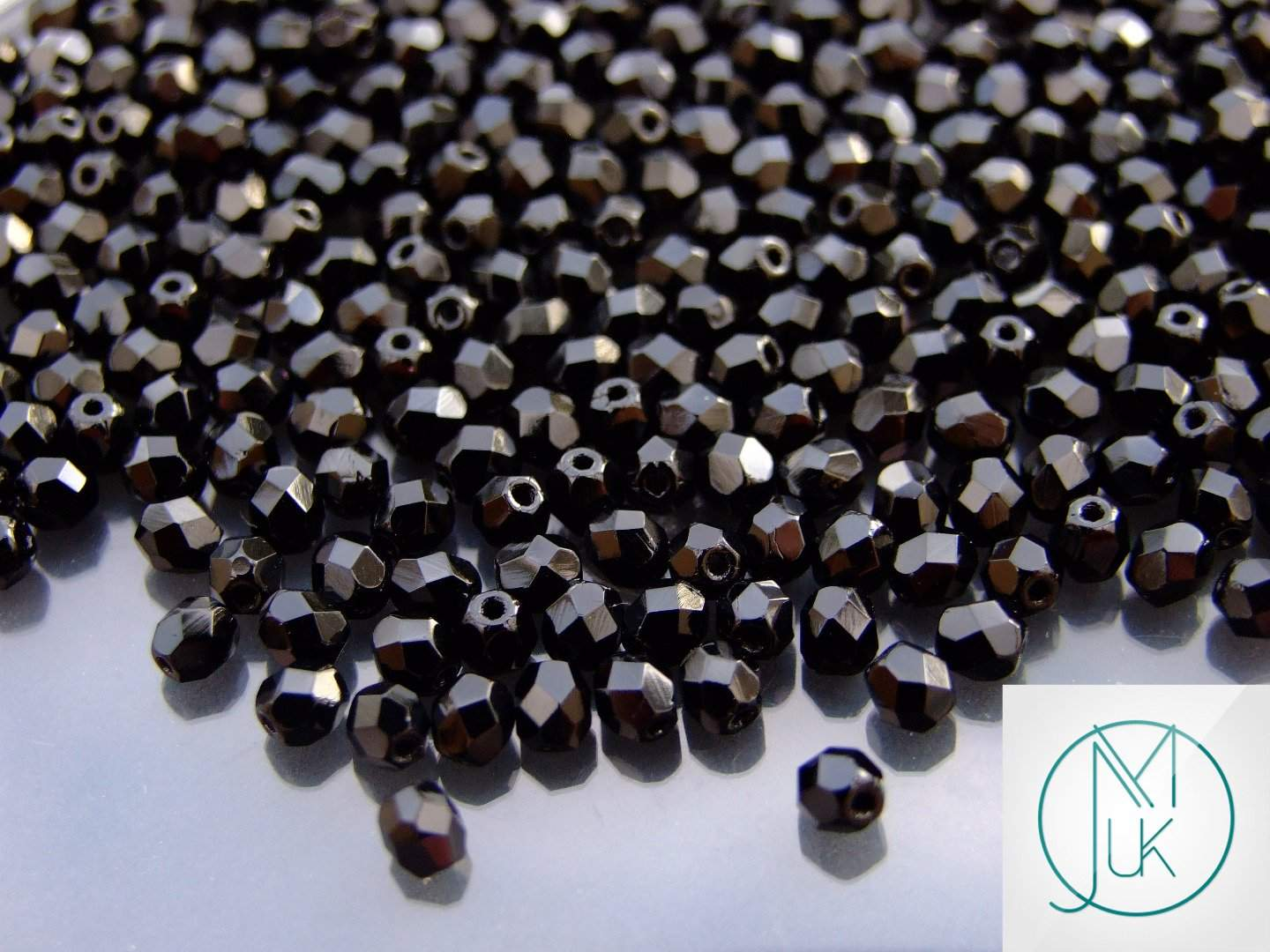 120+ Fire Polished Beads 4mm Jet-Glass Beads-Michael s UK Jewellery 1a260da6cb88
