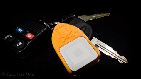 Square Credit Card Reader Case with Key Ring