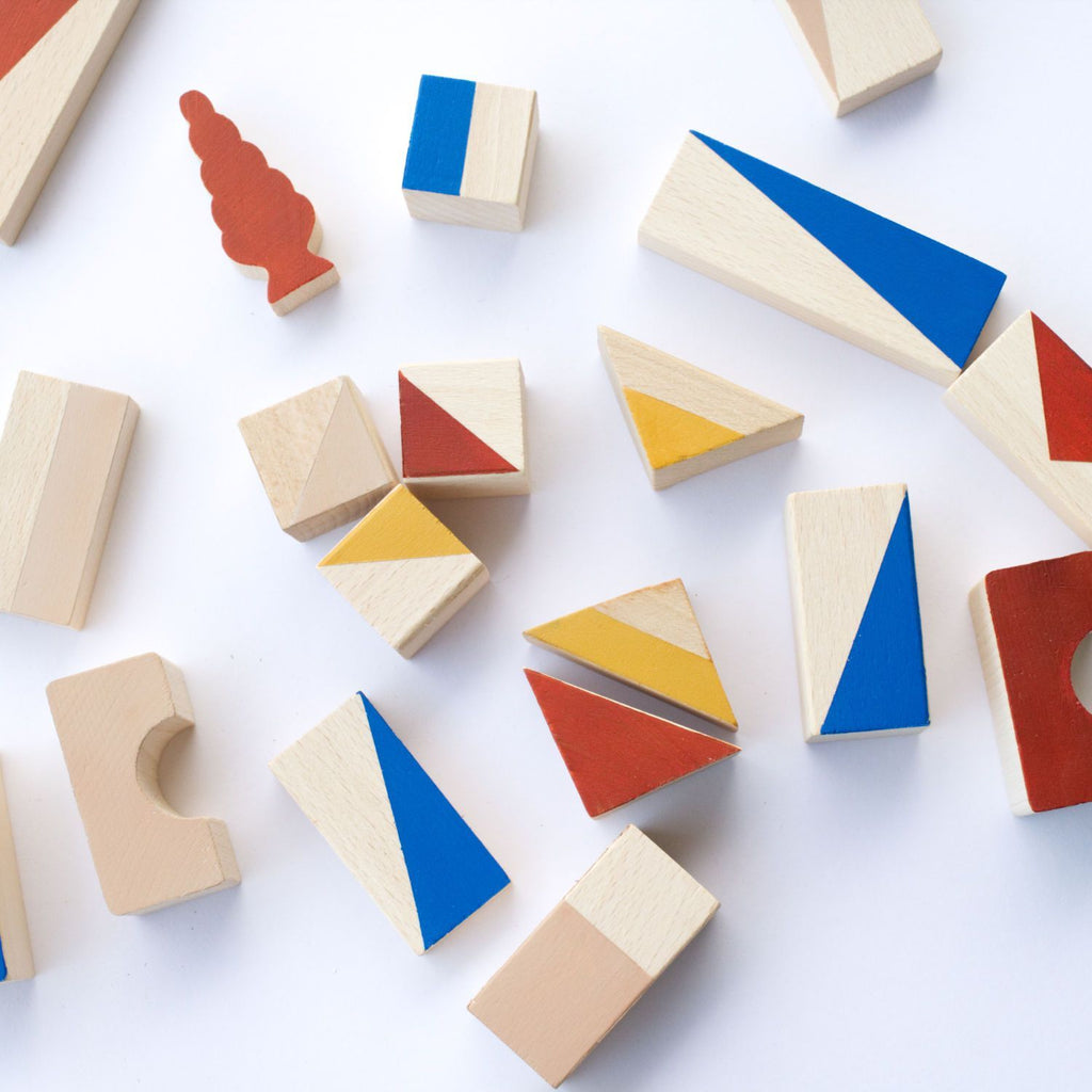Wooden Building Blocks - Sienna - 24 pieces