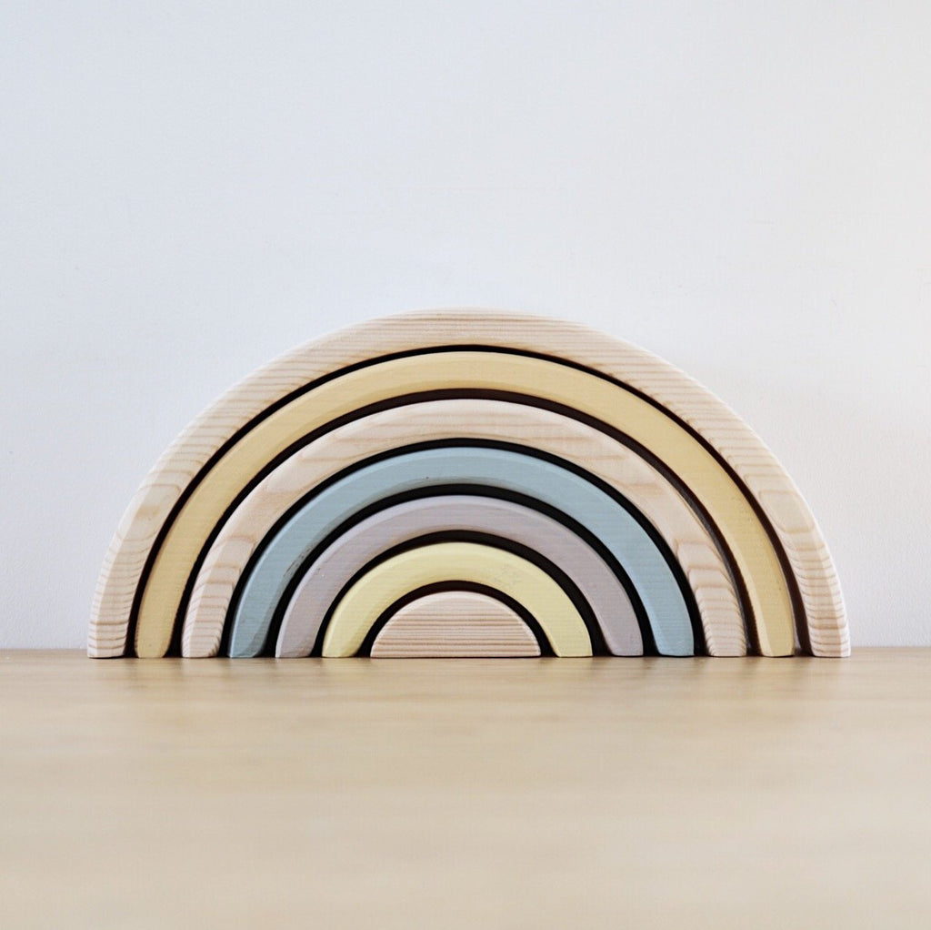 Wooden Rainbow Stacker - Custom colour choice