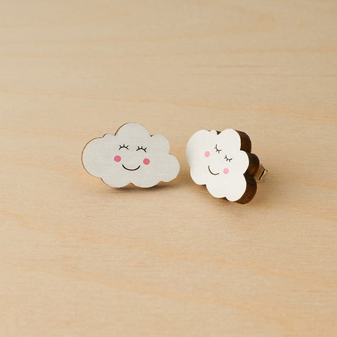 Smiley clouds studs