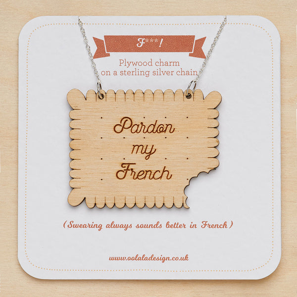 Pardon my French necklace - Oolaladesign
