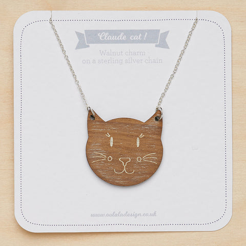 Claude cat necklace