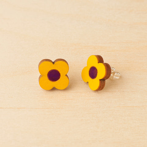 Yellow daisy - Studs